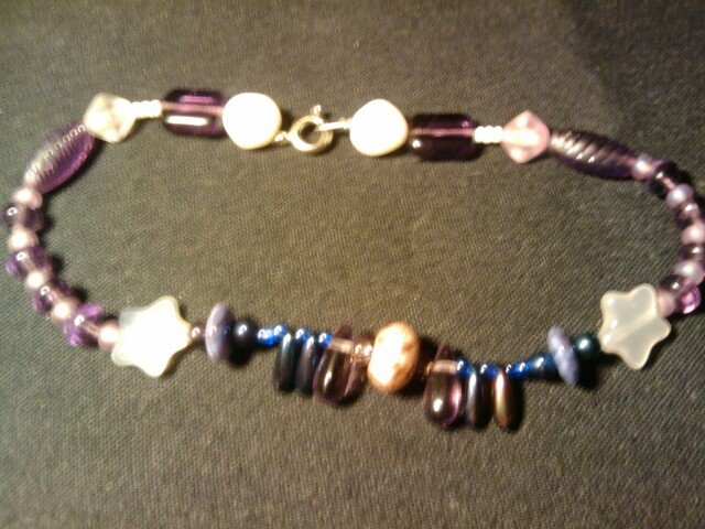 """hancrafted 10""""  anklet"""
