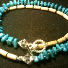 "handcrafted 9"" turquoise double wrap around"