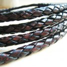 1 Yard of 7mm Twist colour Round Braided Bolo Leather Cord