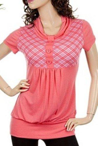 Plus Coral Coloured Short Sleeve Shirt 1XL - 2XL - 3XL