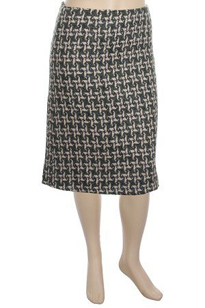Plus Black Woven Knee Length Skirt  1XL, 2XL, 3XL