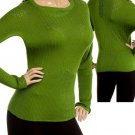 Green Long Sleeve Knit Sweater MEDIUM, LARGE, XLARGE