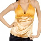 Yellow Empire Waist Halter Blouse SMALL, MEDIUM, LARGE