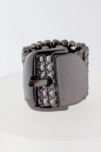 Hermatite Stretchable Belt buckle Ring