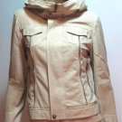 Beige Pleather Jacket - SMALL, MEDIUM, LARGE