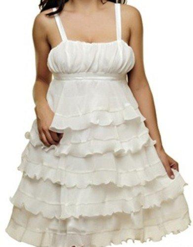 White Empire Waist Dress - SMALL, MEDIUM, LARGE
