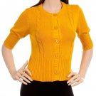 Yellow 3/4 Sleeve Sweater - SMALL, MEDIUM, LARGE