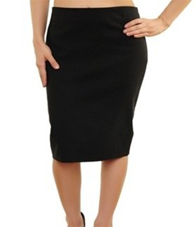 Plus Black Solid Skirt XL - 2XL