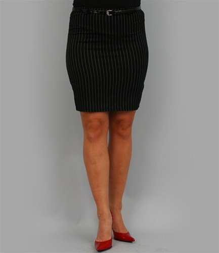 Black Pin Stripe Skirt - SMALL, MEDIUM, LARGE