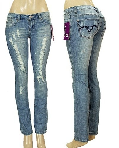 Distressed Medium Wash Jeans SIZES: 5/6 - 7/8 - 11/12