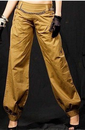 Khaki Neck Trousers - One Size