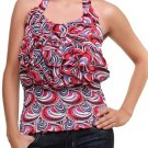 Red Abstract Print  Halter medium-large
