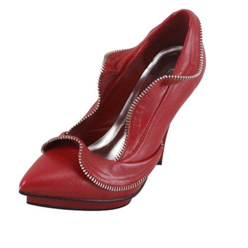 Red Zippered Heel 5.5- 6- 7 - 7.5 - 8 - 8.5 - 10