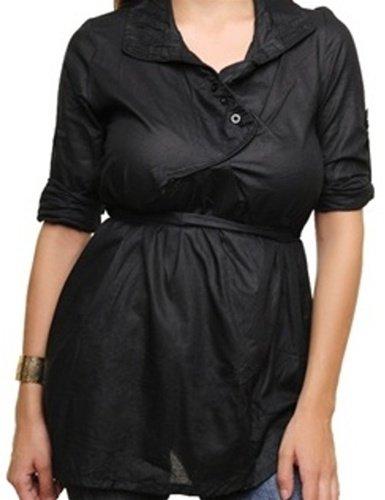 Black 3/4 Sleeve Blouse - S/M, M/L