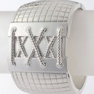 Metal corset bracelet   with spring snap closure