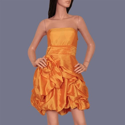 Burnt Orange Sleeveless Formal Dress -SMALL