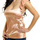 Peach Blouse with Rufled Strap SMALL, MEDIUM, LARGE