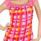 Pink Shirt with Checkered Print SMALL, MEDIUM, LARGE