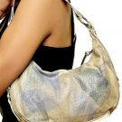 Beige and Blue Small Handbag