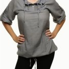 Grey blouse with Drawstring SMALL, MEDIUM, LARGE