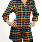 Plaid Long Sleeve Shirt SMALL, MEDIUM