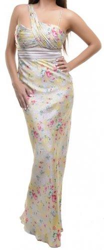 Cream Satin One Strap Dress SMALL, MEDIUM, LARGE
