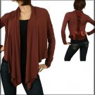 Brown Cardigan with Decorative Back SMALL, MEDIUM, LARGE
