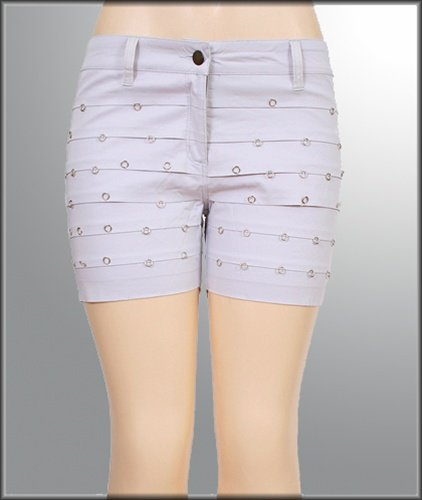 Grey Studed Shorts - Size Large
