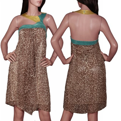 Cheetah Inspired Knee Length Dress SMALL, MEDIUM, LARGE
