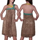 Cheetah Inspired Knee Length Dress SMALL, MEDIUM, LARGE