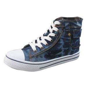 Denim Print Sneakers 6 - 6.5  - 7 - 7.5 - 8 - 8.5 - 10