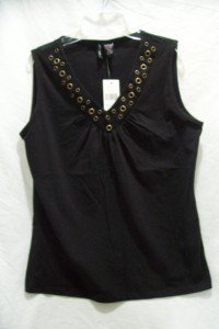 JASON MAXWELL Women's (SZ Medium) Black Top, NWT