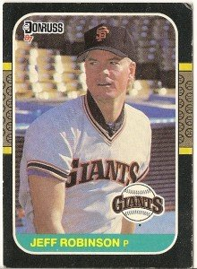 "JEFF ROBINSON ""San Francisco Giants"" 1987 #556 Donruss Baseball Card"
