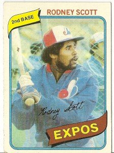 """RODNEY SCOTT """"Montreal Expos"""" 1980 #712 Topps Baseball Card"""