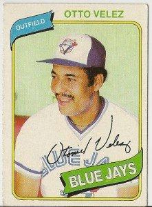 "OTTO VELEZ ""Toronto Blue Jays"" 1980 #703 Topps Baseball Card"