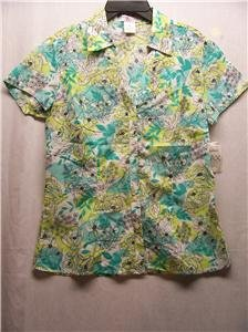 MADISON & MAX Women's S/S Flower Top, Size: 6, New With Tag