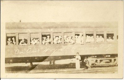 WORLD WAR l Post Card, Sailors On Their Way To Panama