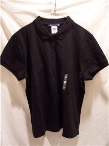 OLD NAVY Women's (XXL) Black S/S Polo Shirt, NWT