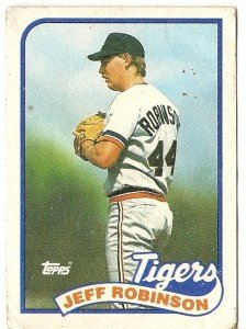 "JEFF ROBINSON ""Detroit Tigers"" 1989 #267 Topps Baseball Card"