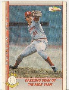 "TOM SEAVER ""Cincinnati Reds"" 1992 #105 Pacific Baseball Card"