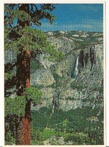 UPPER & LOWER YOSEMITE FALLS Post Card by Impact(1977)