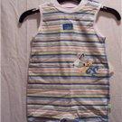 BABY HEALTHTEX Blue Stripe Romper, Size: 6-9 Months, NWT