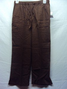 SAG HARBOR Womens Size PS Brown Pants NWT