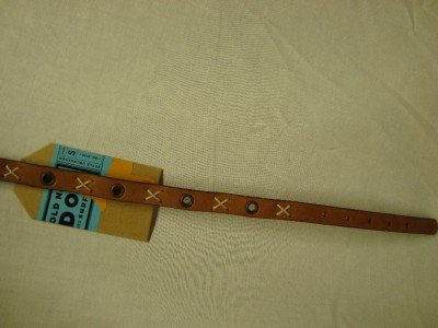 OLD NAVY LEATHER Dog Collar, Size: Small, NWOT