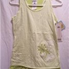 COLUMBIA Girls Youth L Reversable Green Tank Top, NWT