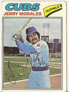 """JERRY MORALES """"Chicago Cubs"""" 1977 #639 Topps Baseball Card"""