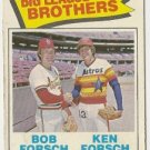 BIG LEAGUE BROTHERS FORSCH 1977 #632 Topps Baseball Car
