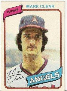 """MARK CLEAR """"Angels"""" 1980 #638 Topps Baseball Card"""