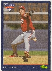 "ROB DIBBLE ""Cincinnati Reds"" 1993 #T26 Classic Baseball Card"