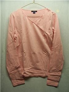 NAUTICA~Womens Pink L/S Top~Size M~New Hamp~MSRP $44NWT